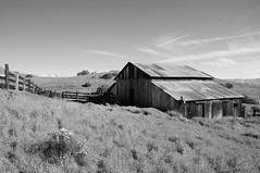 Sometimes A Silence Seems So Loud (nedlugr) Tags: california ca usa carrizoplainnationalmonument carrizoplain barn hills clouds ruraldecay ruralwest weathered fences heartlessbastards camealongway sometimesasilenceseemssoloud sanluisobispocounty
