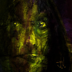 "Kate II (""Jimmer"" ( http://jim-vance.pixels.com )) Tags: abstract dark portrait"