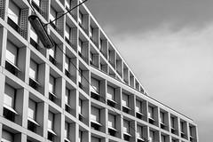 Facade_bnw_005 (stefanradovanovic90) Tags: blackandwhite bnw centraleurope europe eurotrip facade vienna wien golden ratio symmetry ruleofthirds architecture detail reflection glass new modern classical classic buildings light shadow grid