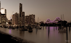 Yachts under the Skyline (markjones bris) Tags: brisbane city yachts moorings storybridge longexposure water skyline