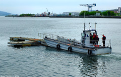 Scotland Greenock a old landing craft moving a floating walkway to the James Watt marina 18 May 2018 by Anne MacKay (Anne MacKay images of interest & wonder) Tags: scotland greenock sea old landing craft floating walkway xs1 18 may 2018 picture by anne mackay