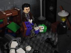You're Going to Have to Kill Me (-Metarix-) Tags: lego minifig dc comics batman under hood infinite crisis jason todd robin joker detective red scene custom