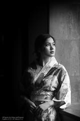 Rain L (Francis.Ho) Tags: rain xt2 fujifilm girl woman female femme lady portrait people beauty pretty lips eyes hair face chinese model elegant glamour young sensuality fashion naturallight cute goddess asian monochrome blackwhite bw 黑白 ポートレート kimono 日本 yukata oiran geisha