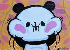 SerenaAzureth_ATC_MochiMochiPanda_Jiggly2 (SerenaAzureth) Tags: serenaazureth handdrawn drawing sketch atc artist trading card swapbot swap bot mochi panda mochipanda mochimochipanda jiggly anime kawaii kamio japan japanese
