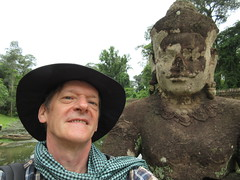Fred Comes Home Tonight!! (ruthlesscrab) Tags: fdawkins fred selfie buddha cambodia krama siemreap preahkahn