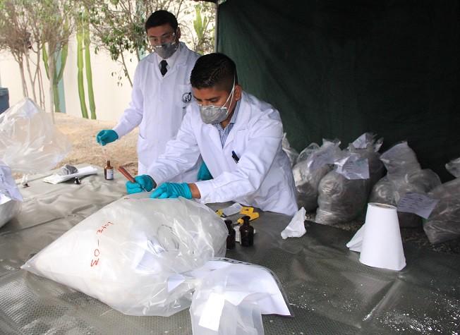 INS PARTICIPA EN LA INCINERACIÓN DE DROGA INCAUTADA