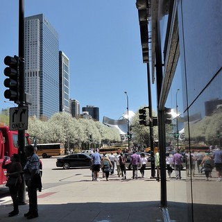 Chicago, Washington Street Looking East to Millennium Park