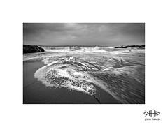 Ebb and Flow (silver/halide) Tags: weather johnbaker seashore seascape shoreline waves atlantic atlanticocean godrevy westcornwall cornwall poldark monochrome mono blackandwhite bw waveaction ebbandflow