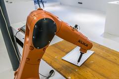 I must not hurt humans (PanMajster) Tags: kuka machine industrial robot przemysłowy writing hurt humans łódź design pentax k3ii sigma 1835