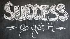 Success - Go get it - Credit to http://homedust.com/ (Homedust) Tags: blackboard board chalk chalkboard learning motivation school success successful training typography