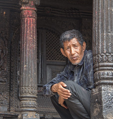 Resting man (SamKirk9) Tags: nepal kathmandu bhaktapur