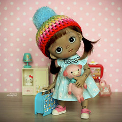 My baby Tutu! (Passion for Blythe) Tags: tutubjd ppinkydolls blackgirl cute tiny bjd