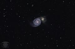 M51 -The Whirlpool Galaxy (Dark Arts Astrophotography) Tags: astrophotography astronomy space sky stars star night galaxy whirlpool m51 astrometrydotnet:id=nova2602786 astrometrydotnet:status=solved