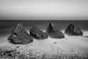 On The Rocks (Dean Conley) Tags: trowrocks rocks sea southshields nikond3400 nikon d3400 tokina1120mm tokina longexposure lee leefilters bigstopper 10stopnd dslr shore seascape flickr blackandwhite bw monochrome mono northeastengland englishcoast thisisengland pebbles outdoors shuttercontrol