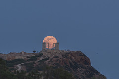 May 29, 2018 Full Moon (n.pantazis) Tags: moon fullmoon classic alignment attiki attica sounion capesounion ancient classical god temple poseidon neptune outdoors dusk blue bluehour columns marble ruins people visitors may292018fullmoon