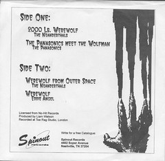 Meet The Werewolf 45RPM Back Cover ( Spinout Records 1990's ) (Donald Deveau) Tags: werewolf record universalmonsters 45rpm vinyl monsters meetthewerewolf spinoutrecords