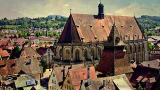 GERMANY, Schwäbisch Gmünd , Heilig-Kreuz-Münster und Glockenturm, 76212/10129
