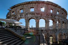 Arena of Pula (Bernd Thaller) Tags: pula istarskažupanija kroatien hr architecture antique roman ruins arena sun backlight contrast lensflare building historic