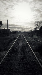 Waiting... (MFPolako) Tags: bahiablanca argentina ciudad bahiense barrio highcontrast photography urbex discarded abandoned abandon forgotten decay urbandecay old viejo garbage contrast restos remains bahía blanca urbanexploration neglected outside campo field country countryside landscape railroad tracks train tren vias puertogalvan blackandwhite blancoynegro monochrome noir bnw bw monocromático