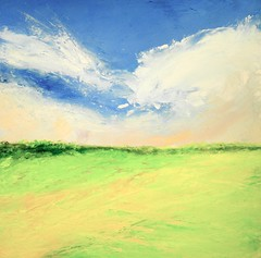 """Cloud Dance_12""""x12""""_oil on panel_2017 (richgombar) Tags: richgombar richardgombar landscape summer vermont clouds skies fields homedecor wallhanging landscapepainting"""