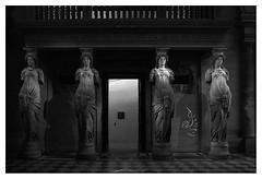 Louvre, Cariatides (orichier) Tags: louvre cariatides france paris museum palace palais musée blackwhite