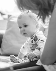 Alfie (johnnewstead1) Tags: blackwhite blackandwhite monochrome portrait portraiture naturallight baby babyportrait cute johnnewstead olympus em1 mzuiko depthoffield dof wideapeture f12 bokeh