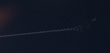 Camera shake on a long exposure of the ISS