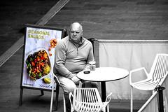 Coffee Break (SteveJ442) Tags: liverpool merseyside england uk street people candid spotcolor spotcolour selectivecolor selectivecolour nikon