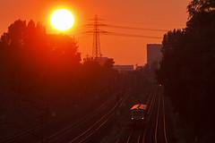 Kurzzug auf der S21 (Lilongwe2007) Tags: hamburg deutschland billwerder moorfleet sbahn s21 eisenbahn züge verkehr öpnv 472 fahrzeuge gleise schienen sonnenuntergang architektur