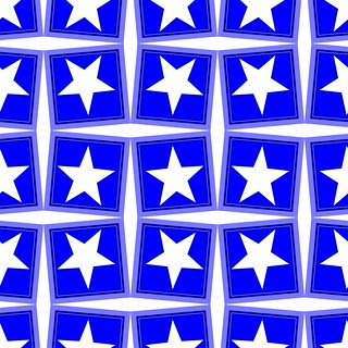 Pattern Astroniras with a five-pointed stars