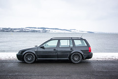 Throwback to some winter scenes (Chris B70D) Tags: dundee broughty ferry sky clouds colours street sihlouette law hill road bridge local scenes scotland winter throwback snow ice cold white slush vw golf bolf estate low black euro daily driver