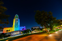 City Hall lit rainbow in honor of Pride (Mayor of Los Angeles) Tags: artsandculture lgbtq