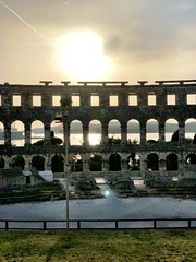 Flares (aiva.) Tags: croatia istria pula hrvatska istra balkan coliseum arena amphitheater jadran adriatic sunset ruins antic architecture