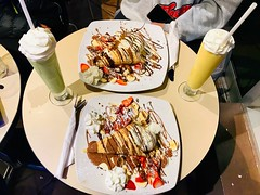 Cone Crepes and Milkshake (Emaad Paracha) Tags: eats beef roti chicken seafood paratha egg omelette octopus chimichurri naan chai tea hotdogs pancakes fish chips burger cookies wraps shawarma ox coffee cake bun kabab pizza hollywood bollywood korean food dessert milkshake crepe potluck