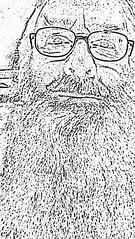 2018 - photo 165 of 365 - selfie (old_hippy1948) Tags: mono selfie sketch