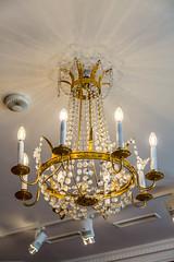 Ancient Chandelier in Kadriorg Palace (AudioClassic) Tags: kadriorgpalace old vintage bulb electric lights crystal glass estonia tallinn