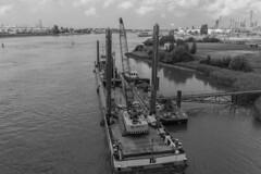 DSCF5498.06.18 (addy_graphy) Tags: botlek europoort nissewaard boat water monochrome ship industrial