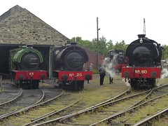 P1080640 S 2018-06-16 - Tanfield - Legends of Industry - Steam Gala - Nos 20, 49 and 60 (GeordieMac Pics) Tags: ©2018georgemcvitieallrightsreserved tanfield dmc railway lumix panasonic steamgala steamengines locomotives ncb no60 no49 no20 shed marleyhill track legendsofindustry uksteam