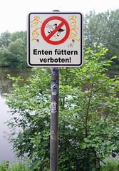 - (txmx 2) Tags: sign water eppendorfermühlenteich hamburg