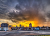 Sunday's Sweltering Sunset Shower - Roanoke (Terry Aldhizer) Tags: sunday sweltering sunset shower roanoke city downtown highway sky clouds weather rain hot buildings terry aldhizer wwwterryaldhizercom