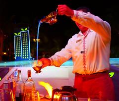 Spanish Coffee (Kirt Edblom) Tags: loreto loretomexico mexico villadelpalmar vacation vdp islandsofloreto wife mexicancoffee gaylene fire blueflame flame resort milf spa bcs baja bajacaliforniasur color danzantebay danzante kirt kirtedblom edblom easyhdr hdr nikon nikond7100 nikkor18140mmf3556 longexposure handheld may 2018 gulfofcalifornia night seaofcortez
