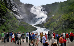 Norway: Myrdal, Kjofossen waterfall (Henk Binnendijk) Tags: flåm myrdal flåmsbana flåmsdalen norway railroad flamsbana flam aurland people terminal sognogfjordane flaam norge noorwegen kjofossen waterfall