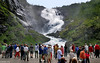 Norway: Myrdal, Kjofossen waterfall (Henk Binnendijk) Tags: flåm myrdal flåmsbana flåmsdalen norway railroad flamsbana flam aurland people terminal sognogfjordane flaam norge noorwegen kjofossen waterfall