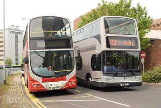 TBP 2706 and PB 40201 @ Preston bus station
