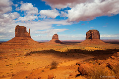 Light and Shadow In Monument Valley (Mimi Ditchie) Tags: monumentvalley landscape arizona utah clouds valley shadows mittens themittens buttes merrickbutte mimiditchie mimiditchiephotography getty gettyimages