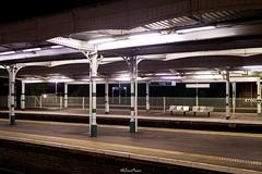 Platform Signs, Purley Station (LFaurePhotos) Tags: londonboroughofcroydon londonbynight purleystation zone6 architecture lfaurephotos platforms southeastlondon trainstation
