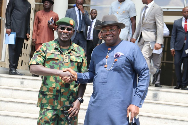 HSDickson - Courtesy Call by Lieutenant Gen. TY Buratai Chief of Army Staff. 05 March 2018