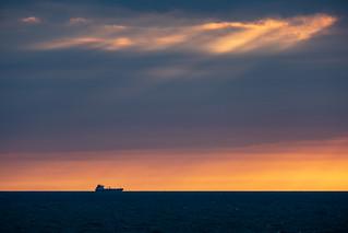 Passing at sea