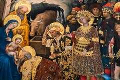 Gentile da Fabriano: Adorazione dei Magi, 1423 (Detail) (Anita Pravits) Tags: adorationofthemagi altar firenze florence florenz galleriadegliuffizi gentiledafabriano gentiledinicolòmassio italia italien italy museum strozzialtar toscana toskana tuscany uffizien