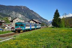 Aln663 (Paolo Brocchetti) Tags: paolobrocchetti morgex aln663 ferrovia bahn rail stazione aosta trenitalia fs regionale automotrice nikon df